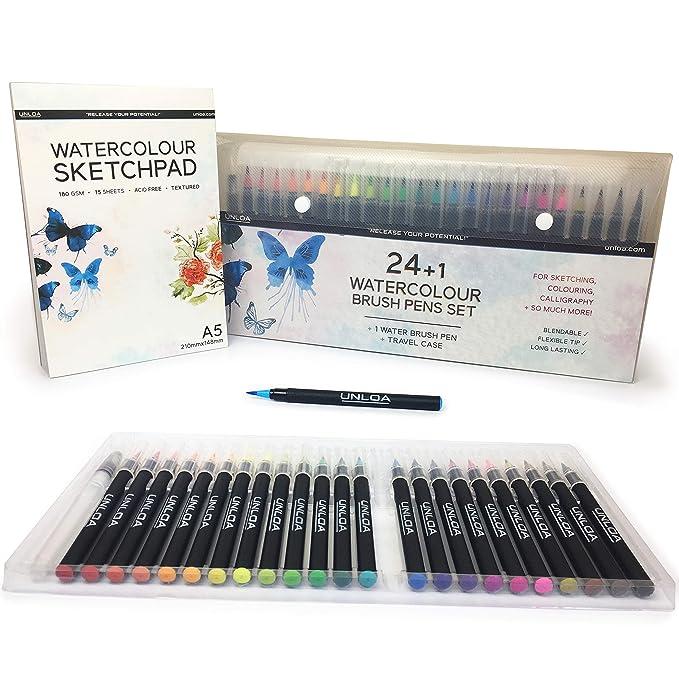 Brilliant Brush Tip Markers Set 12 Case Artist Calligraphy Marker Washable NEW
