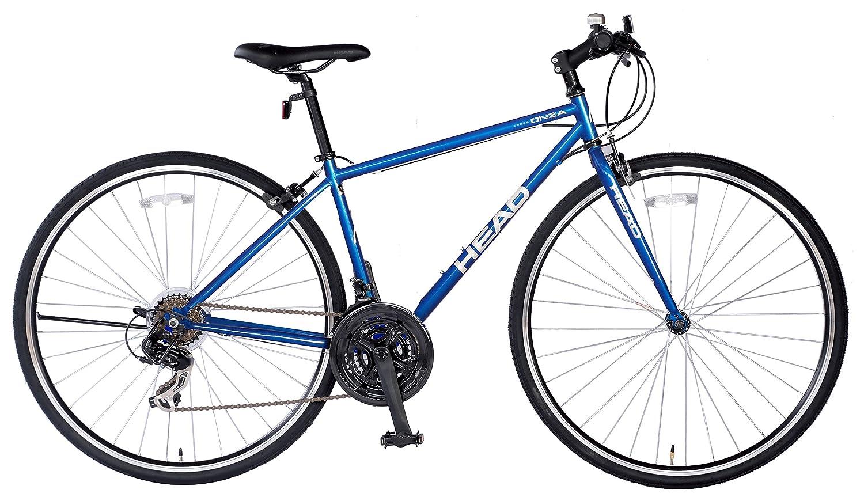 HEAD(ヘッド) クロスバイク ONZA[オンザ] [700C/オリジナルサドル/シマノ外装7段変速/ラピッドファイヤーシフター/21SPEEDS] CRQ-HE7021ST B01MXWBLWI フレームサイズ:420mm|ブルー ブルー フレームサイズ:420mm