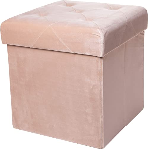 Red Co. Square Luxury Storage Ottoman