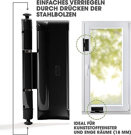 Cal DoubleX XL Noir, sécurité de porte et fenêtre Protection anti ...
