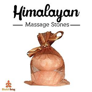 Blissful Being Pink Himalayan Salt Massage Stone Set