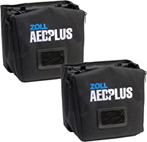 Wholesale CASE of 2 - Zoll Medical AED Plus Defib. Soft Carrying Case-Soft Carry Case, Black/Green