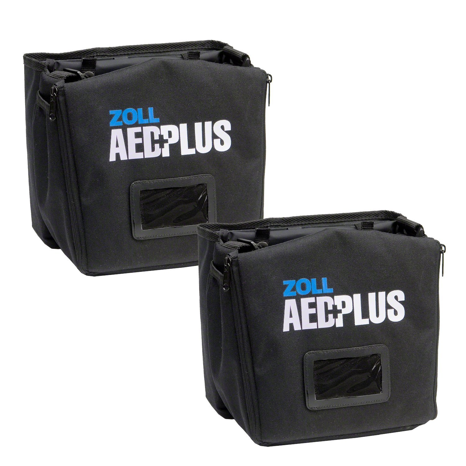 Wholesale CASE of 2 - Zoll Medical AED Plus Defib. Soft Carrying Case-Soft Carry Case, Black/Green by Zoll