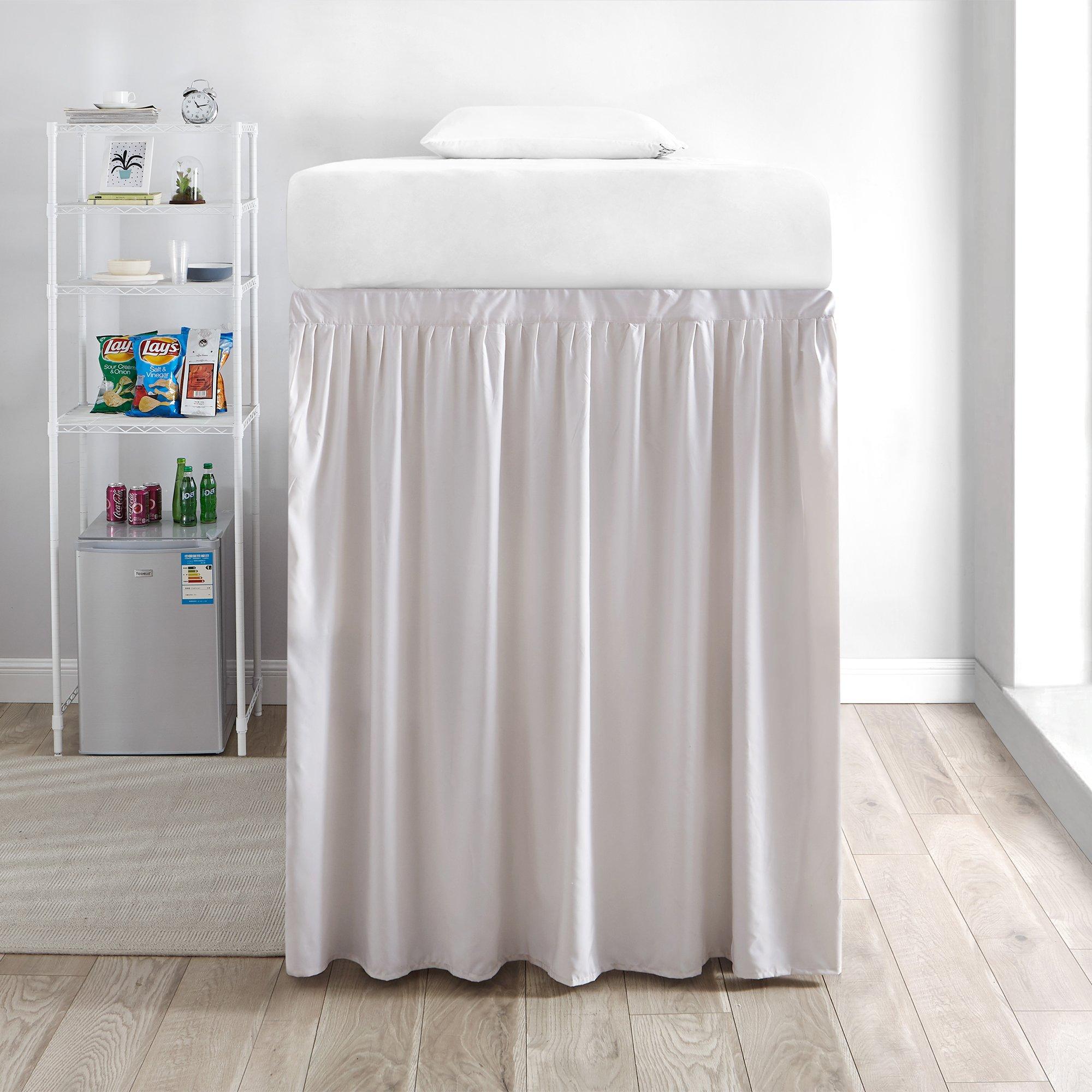 DormCo Extended Bed Skirt Twin XL (3 Panel Set) - Jet Stream