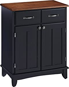 Buffet of Buffets Medium Black with Cherry Top by Home Styles