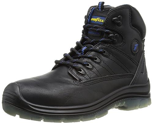 Goodyear Sherman - Zapatos De Seguridad de cuero hombre, color marrón, talla 46 (12 UK)