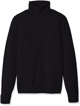 574cc42dfd2 Lacoste Men s Classic Lambswool Turtle Neck Sweater Tone Croc ...