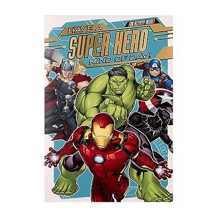 Tarjeta de cumpleaños de los Vengadores de Marvel para niños ...