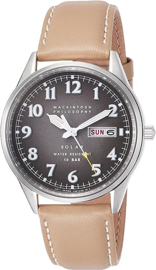 [セイコーウォッチ] 腕時計 マッキントッシュフィロソフィー ソーラー グレーグラデーション文字盤 ビンテージパイロット FBZD987 メンズ ブラウン