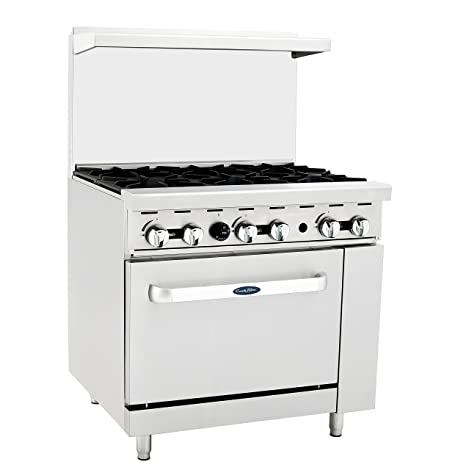 57e4ae3cb12 Amazon.com  Atosa Stove ATO-6B 36   Natural Gas Range 6 Burners with 26.5     Stove ETL  Appliances