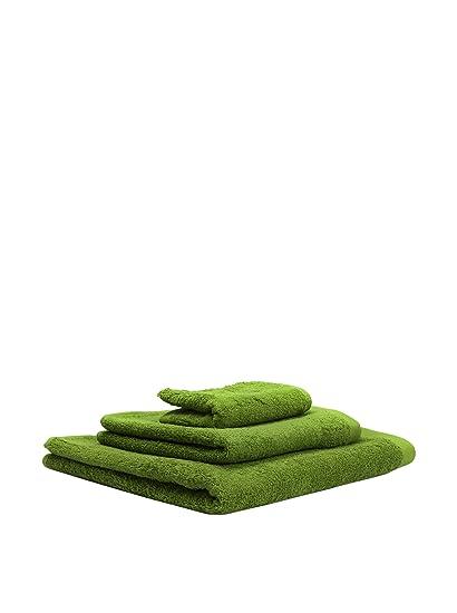 iHome Abecé Casa Juego De Toallas Liso Verde Manzana Único