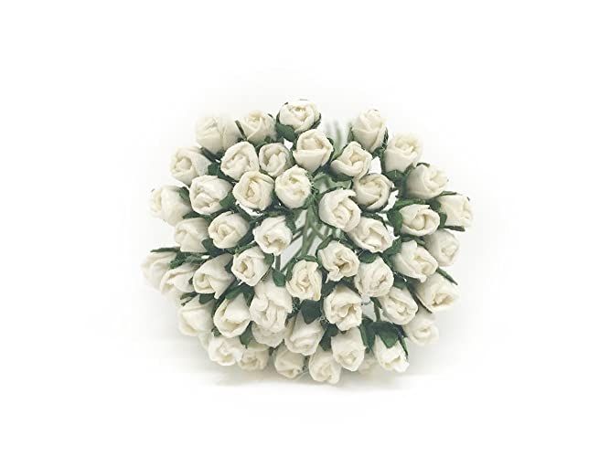 Amazon 07cm white paper roses mulberry paper flowers 07cm white paper roses mulberry paper flowers miniature flowers mulberry paper rose mightylinksfo