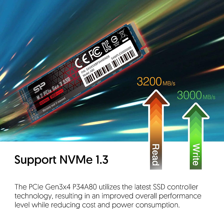 Unidad de Estado sólido PCIe Gen3x4 M.2 NVMe 256GB con velocidades ...