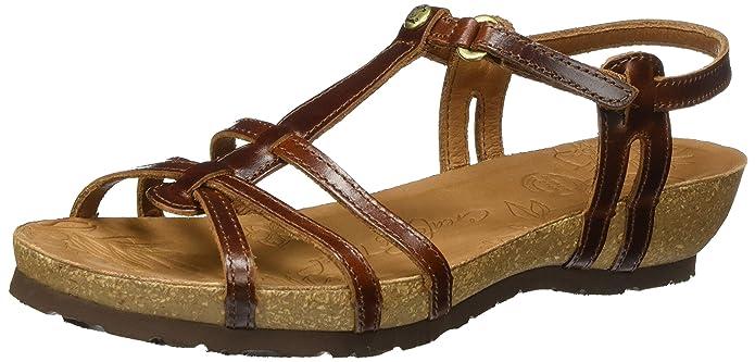 Womens Dori Clay Open Toe Sandals, Brown, 5 UK Panama Jack
