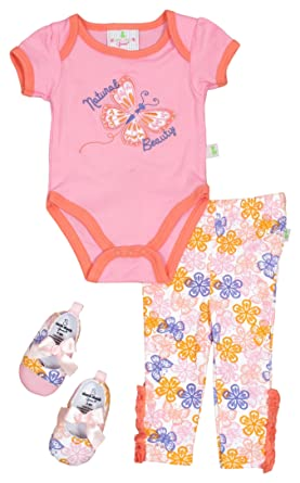 Amazon Com Duck Duck Goose Baby Girls 3 Piece Clothing Set Bodysuit