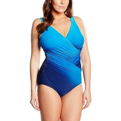 0073ec05721 Miraclesuit Women's DIP DYE - Jillian One-Piece Swimsuit, (Bleu Dégrade),