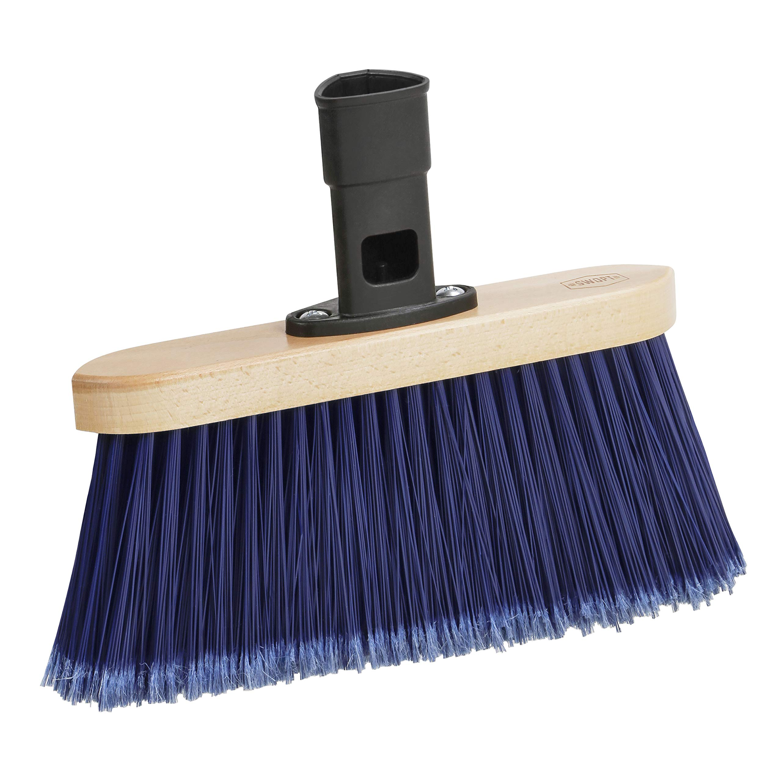 SWOPT Premium Multi-Surface Angle Broom Head – Angled Broom for Indoor and Outdoor Use – Interchangeable with Other SWOPT Products for More Efficient Cleaning and Storage, Head Only, Handle Sold Separately, 5119C6