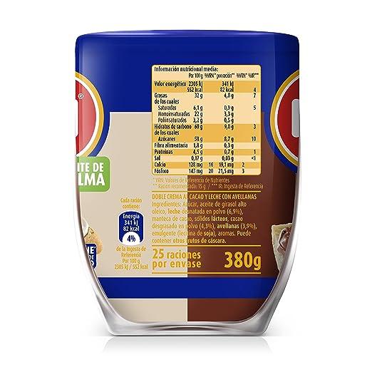Nocilla, Chocolate para untar (Chocoleche) - 2 de 380 gr. (Total 760 gr.): Amazon.es: Alimentación y bebidas