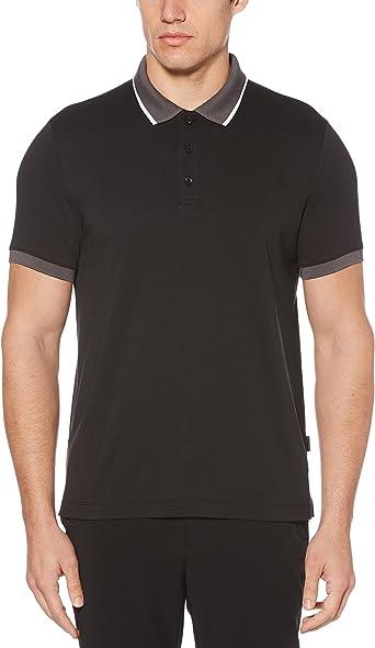 Perry Ellis Hombres 4DSK7173 Manga Corta Camisa Polo - Negro ...