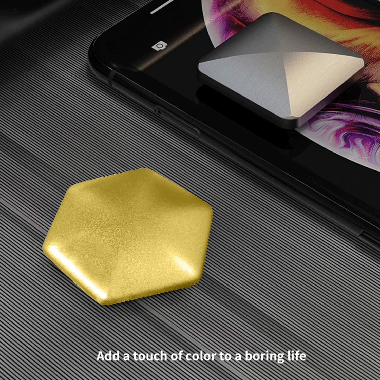 Desktop Flip Spinning Toy Pocket Stress Relieve Toy Plastic Fingertip Decompression Flip Stress Relief Office Rotary Decompiression Toy CaLeQi Flip Toy Quadrilateral
