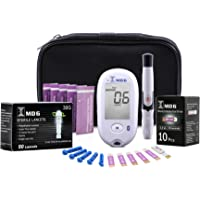 Blood Ketone & Glucose Monitoring System | Track Your Ketones & Ketogenic Diet Progress | Ketosis Test Kit with Lancing Device, 10 Blood Glucose Test Strips, 10 Keto Strips + 50 Lancets by BrunoPharma