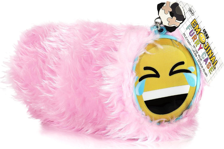 NPW Estuche escolar con emoticono - Peluche rosa, de Get Emojinal: Amazon.es: Oficina y papelería