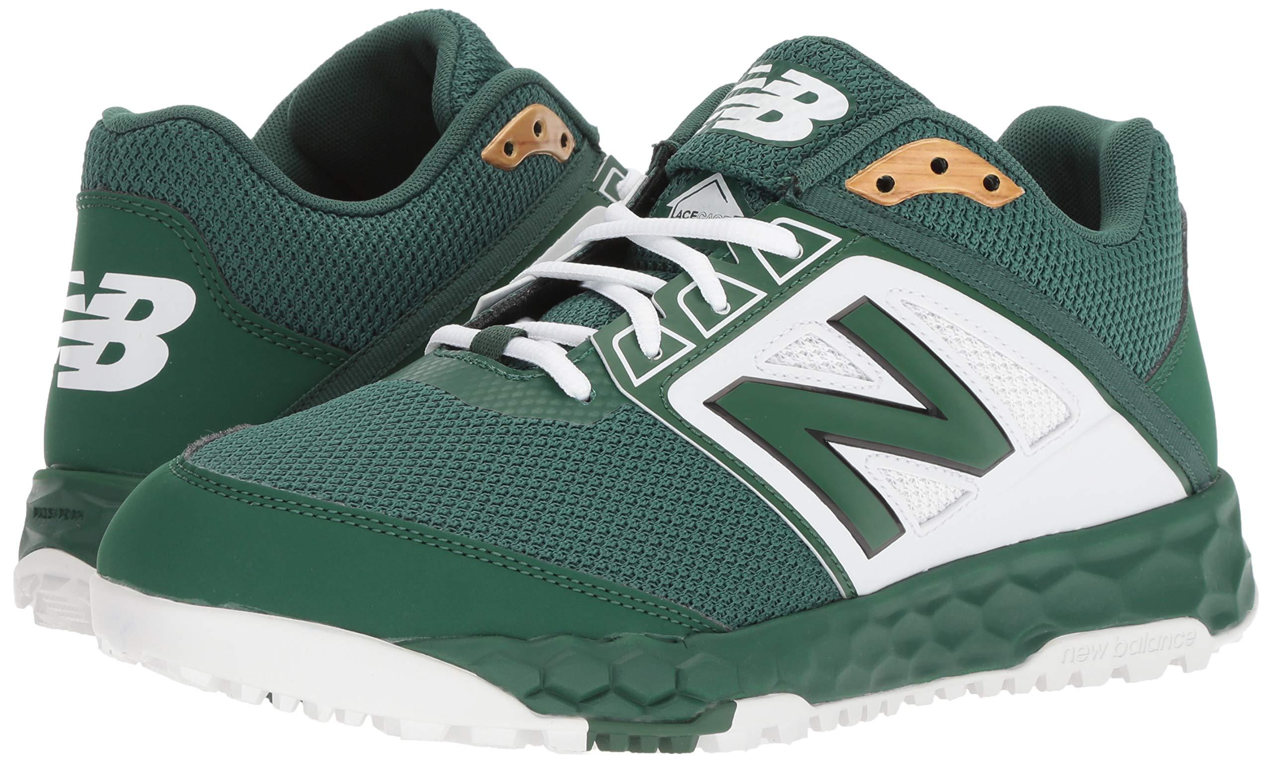 New Balance Men's 3000v4 Turf Baseball Shoe, Green/White, 5 D US by New Balance (Image #6)