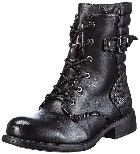 Rieker Damen Kurzschaft Stiefel, schwarz (schwarzschwarz