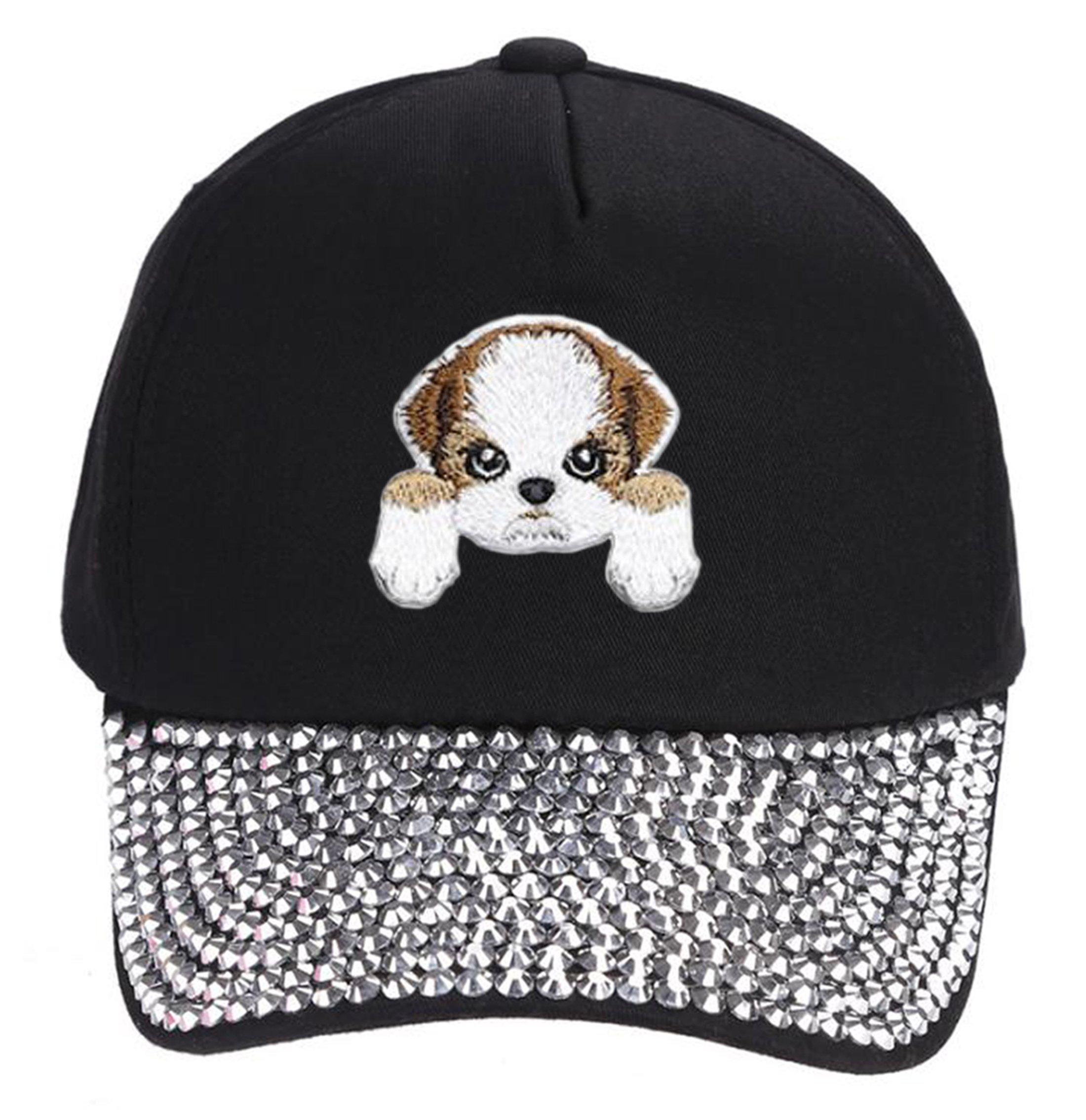 Shih Tzu Dog Hat Cute Puppy Dog Cap (Rhinestone)