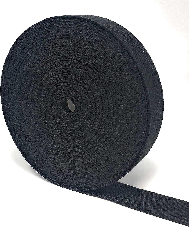 Cinta el/ástica Plana Craft it 5 m, 30 mm de Ancho, cord/ón el/ástico, para Costura, Bricolaje