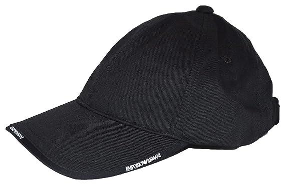 Emporio Armani - Casquette de Baseball - Homme Noir Noir Taille Unique 4d267d81676