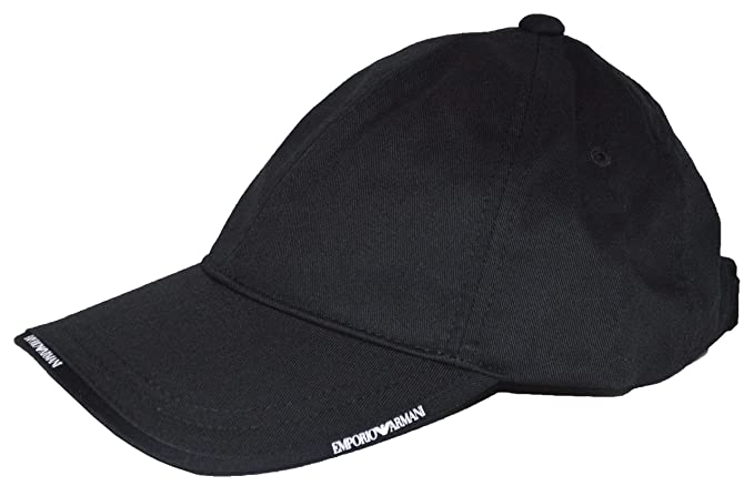 26744dc8 Emporio Armani Cap - S627502 - Black: Amazon.co.uk: Clothing