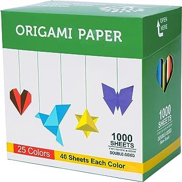 Amazon.com: BUBU Origami Paper 1000 hojas cuadradas de 6.0 ...