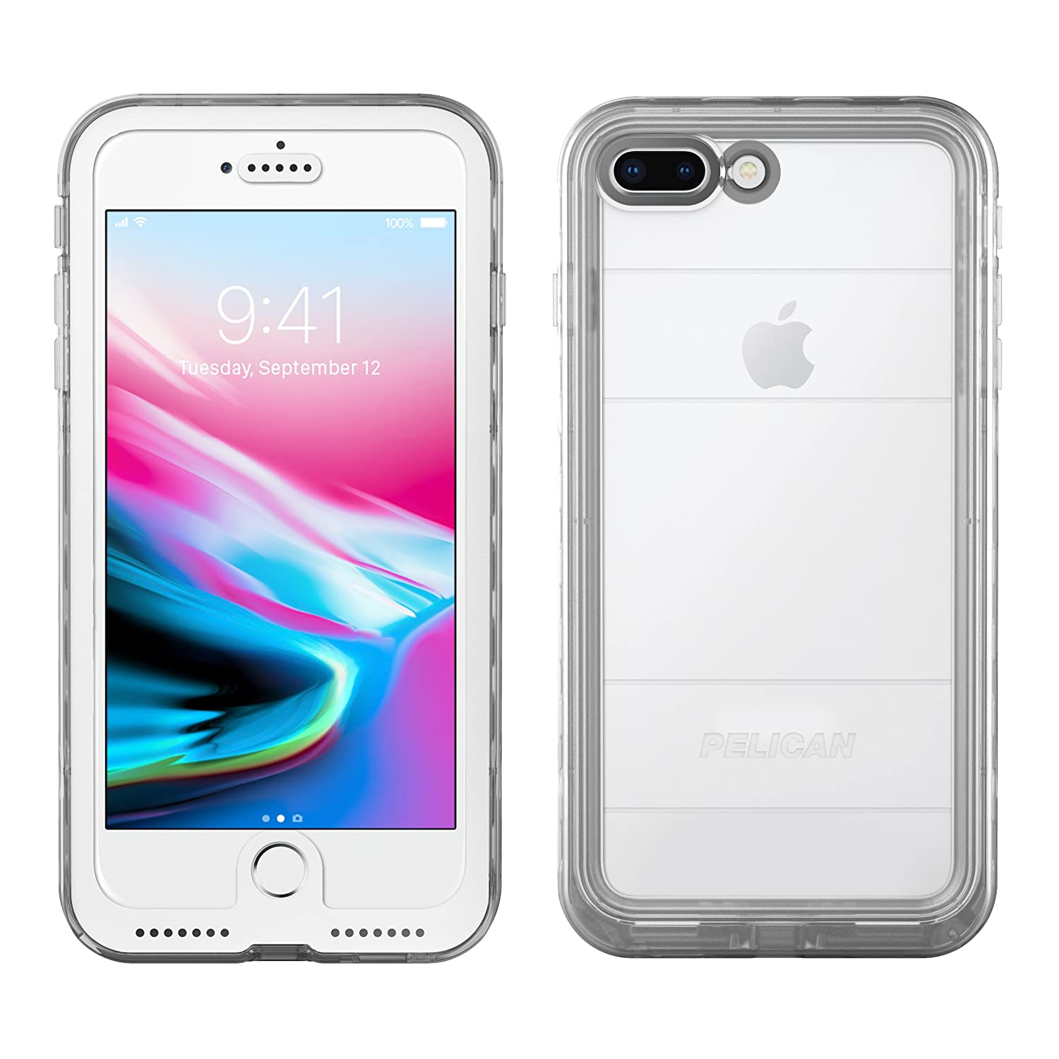 free shipping 70721 e2097 iPhone 8 Plus Case | Pelican Marine Waterproof Case - fits iPhone 8 Plus  and 7 Plus (Clear)