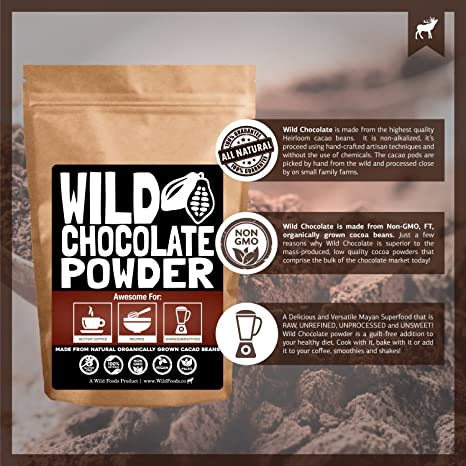 Amazoncom Organic Raw Cocoa Powder Wild Dark Chocolate Powder - Delicious chocolates crafted japanese words texture