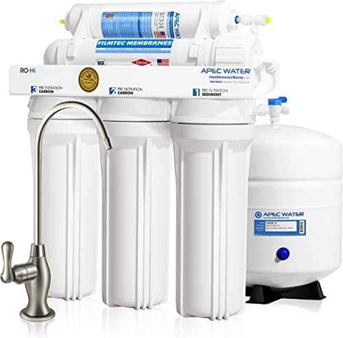 APEC Water Systems Ultimate RO-Hi Top Tier Supreme Certified High Output Fast Flow Ultra Safe Reverse Osmosis Drinking Water Filter System