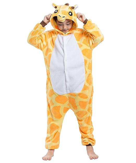 AKAAYUKO Niños Unisex Onesies Kigurumi Jirafa Animal Pijama