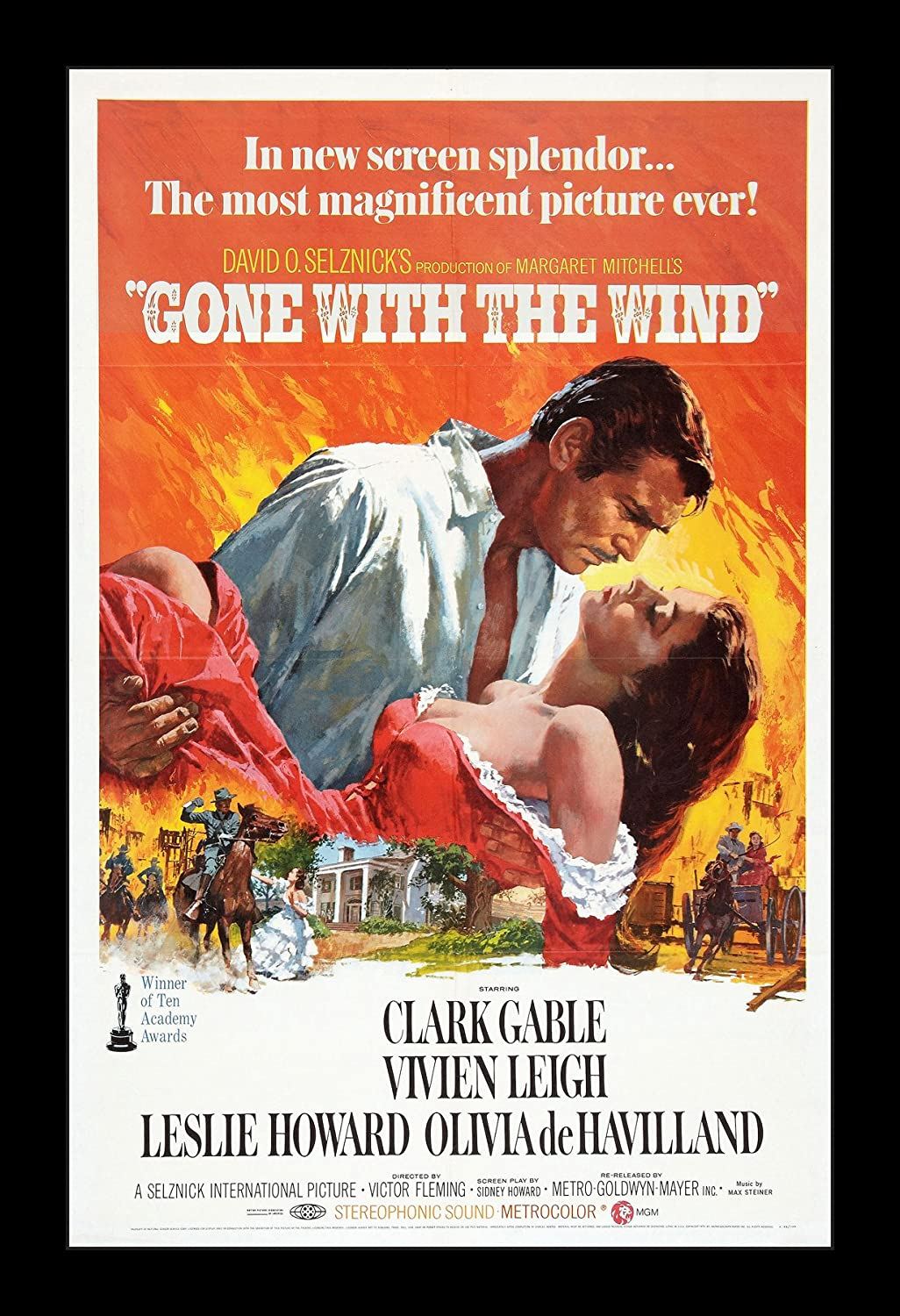 Wallspace Gone with The Wind - 11x17 Framed Movie Poster