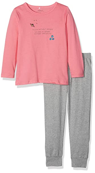 NAME IT Nmfnightset Mel 1 Noos, Pijama para Bebés, Grey Melange, 86
