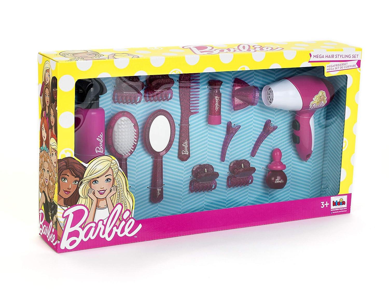 Theo Klein- Barbie Mega Set Peluquero Con Secador Y Muchos Accesorios, Multicolor (5800): Amazon.es: Juguetes y juegos
