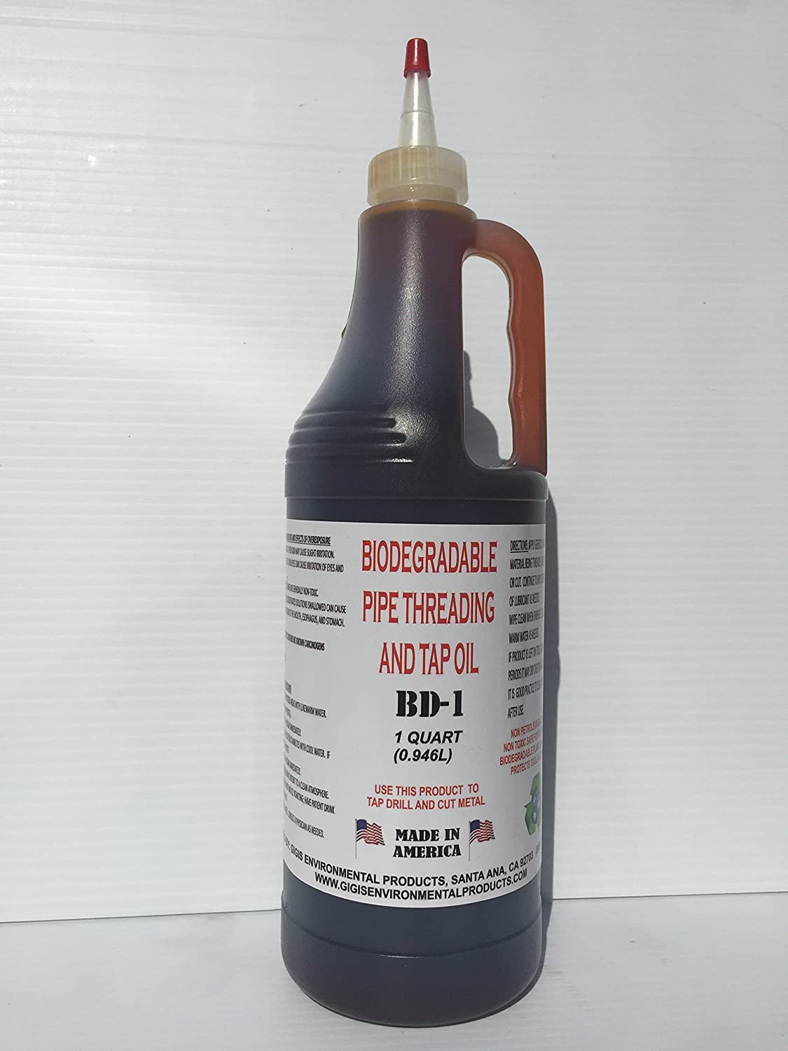 Biodegradable Pipe thread and tap oil