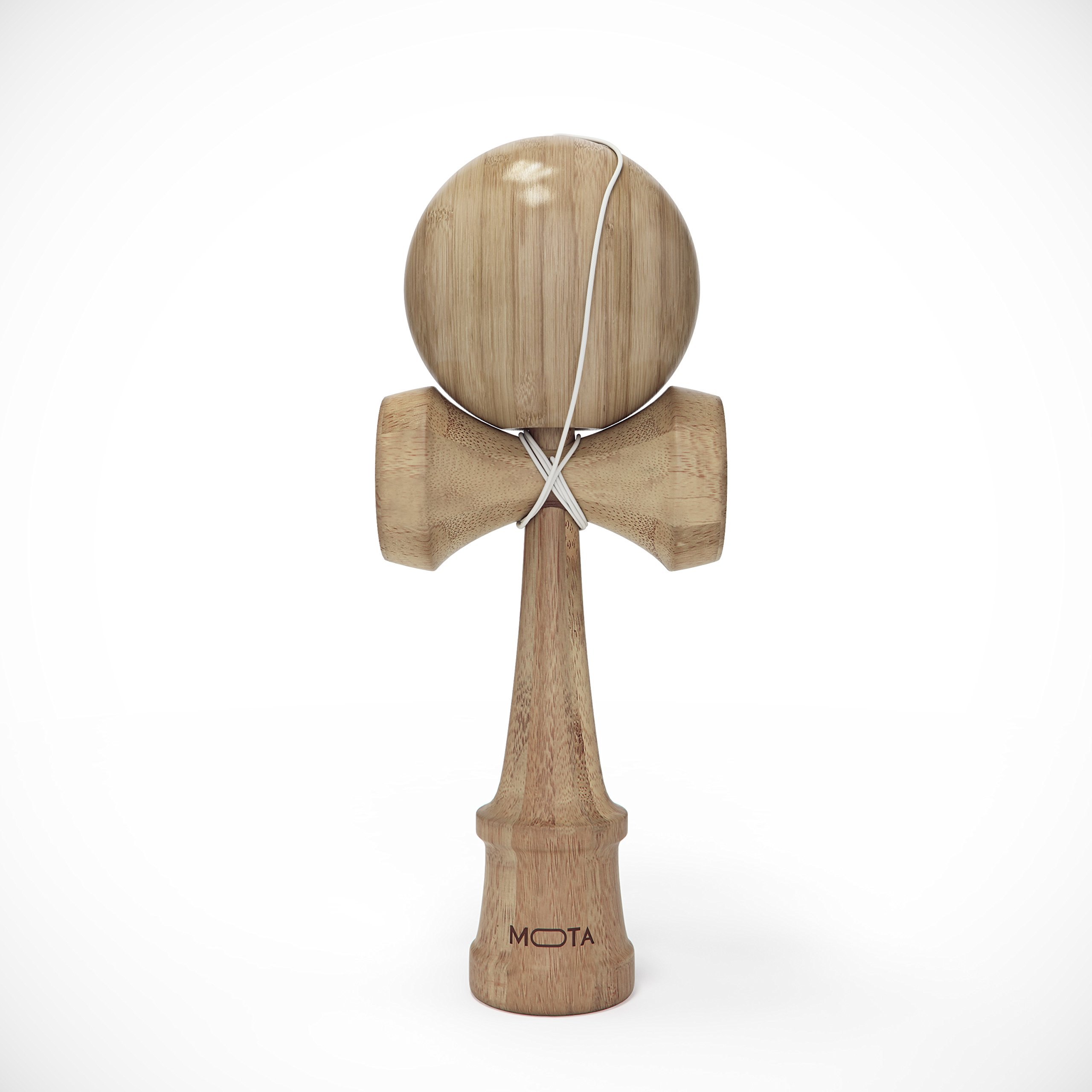 MOTA Kendama Bamboo Toy - Classic Japanese Wooden Ball and Cup Skill Game - Bamboo