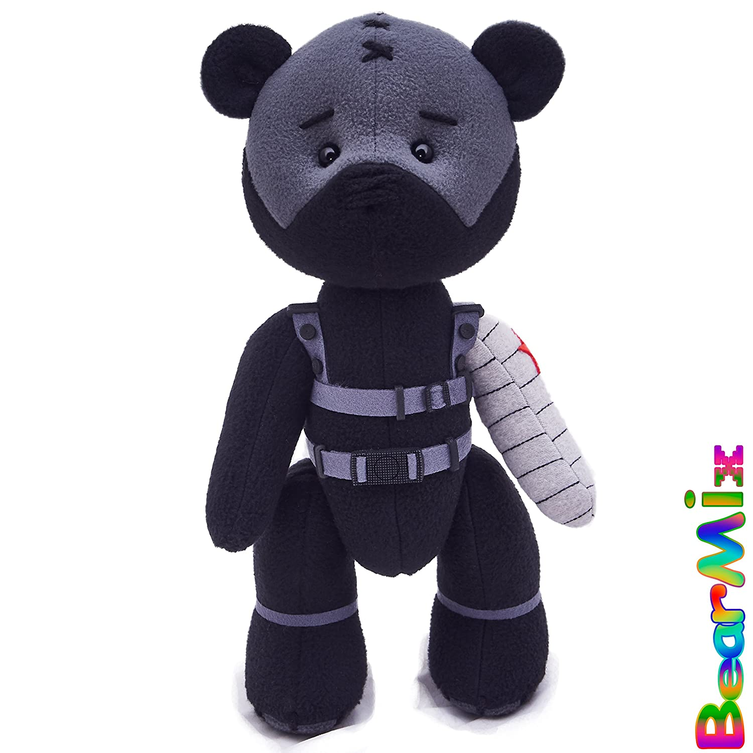 Bucky Winter Soldier bear - marvel superhero movie comic plush toy avengers bucky barnes