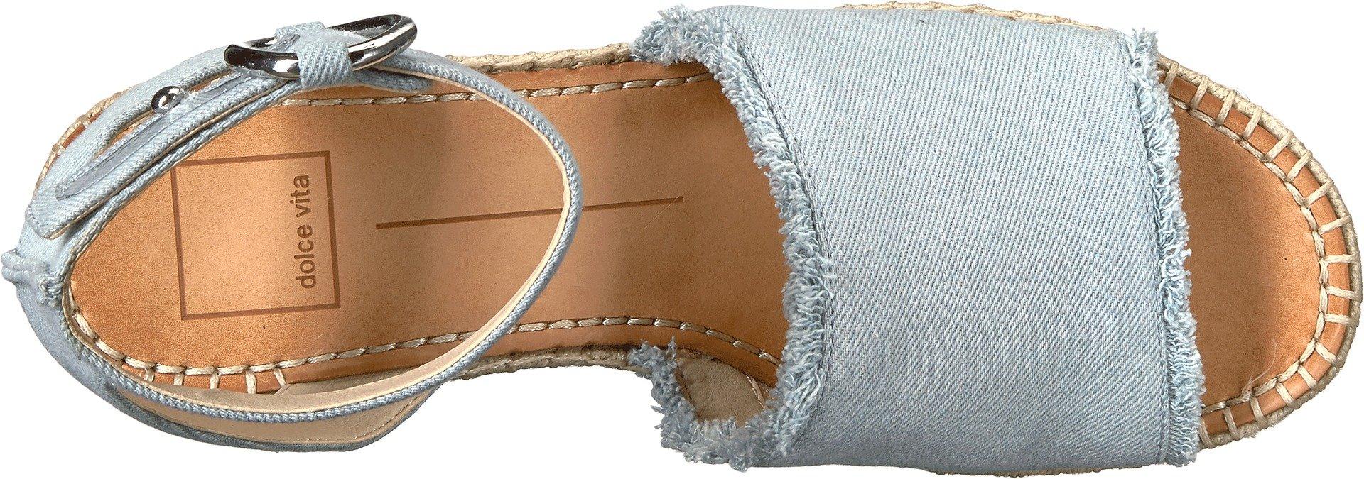Dolce Vita Women's Lesly Espadrille Wedge Sandal, Light Blue Denim, 7.5 M US by Dolce Vita (Image #2)