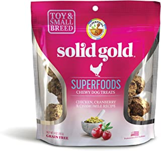 product image for Solid Gold Natural Treats for Small & Toy Breeds; Grain Free Superfoods Chewy Dog Treats