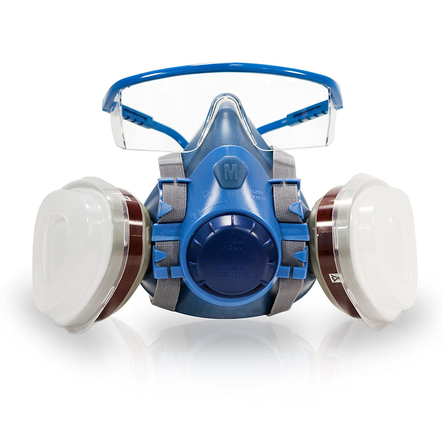 Breath Buddy Re-Usable Half Mask Respirator (Plus Safety Goggles ...