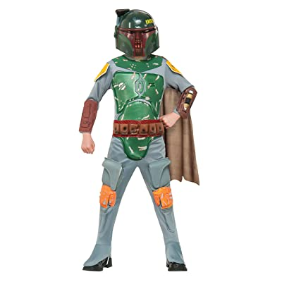 Star Wars Boba Fett Deluxe Child Costume (Large): Toys & Games