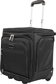 Ciao Luggage 15 Inch Under Seat Bag Carry On Suitcase with Spinner Wheels