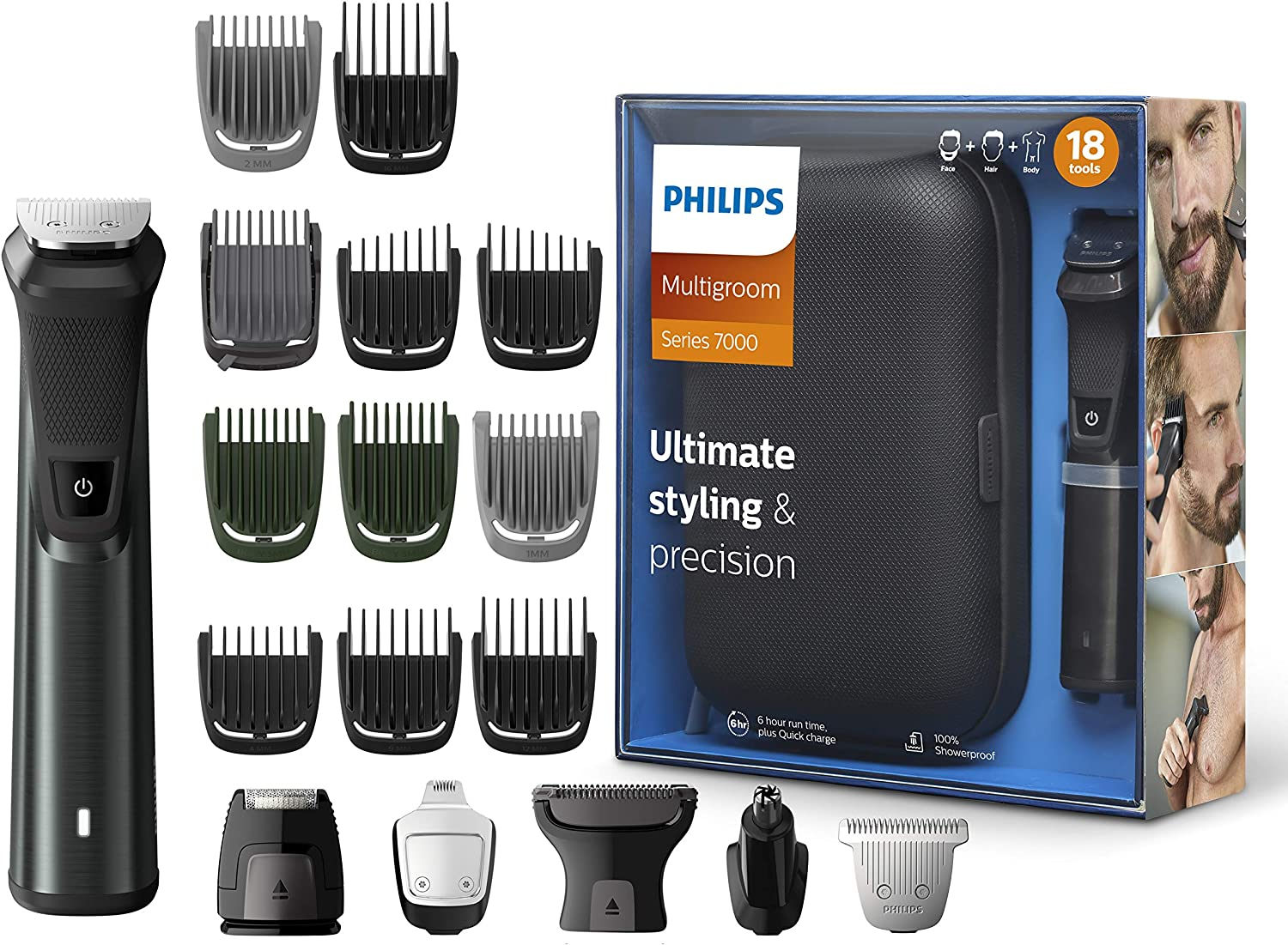 Philips mg7785/20 Multigroom Series 7000 18 en 1 – Recortador para cuerpo y cara,