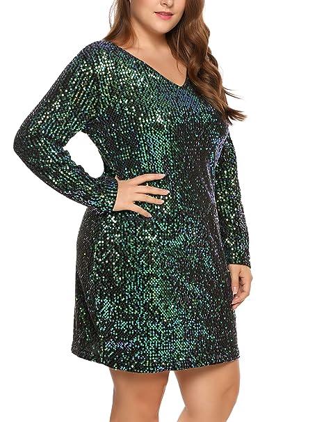 Dresses INVOLAND Womens Plus Size Sequin Dress Sleeveless ...